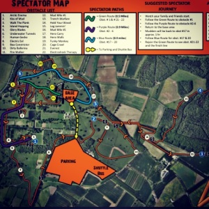 The Tough Mudder Course! We finished in 3.5hrs
