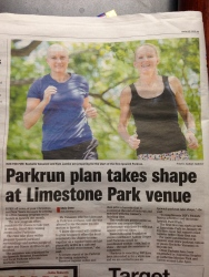 "Press release for Ipswich QLD parkrun. Working on this project was my ""job"" while not working through treatment."